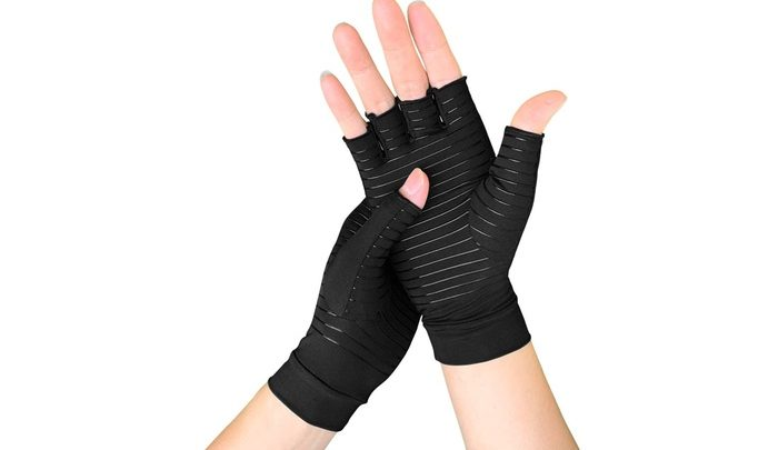 copper compression gloves.